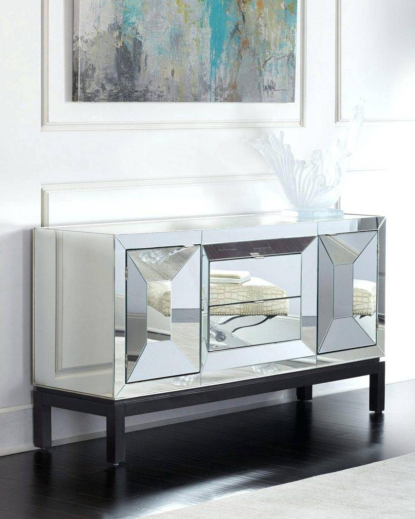 Sideboards. Glamorous White Mirrored Credenza: White-Mirrored for Small White Sideboards (Image 20 of 30)