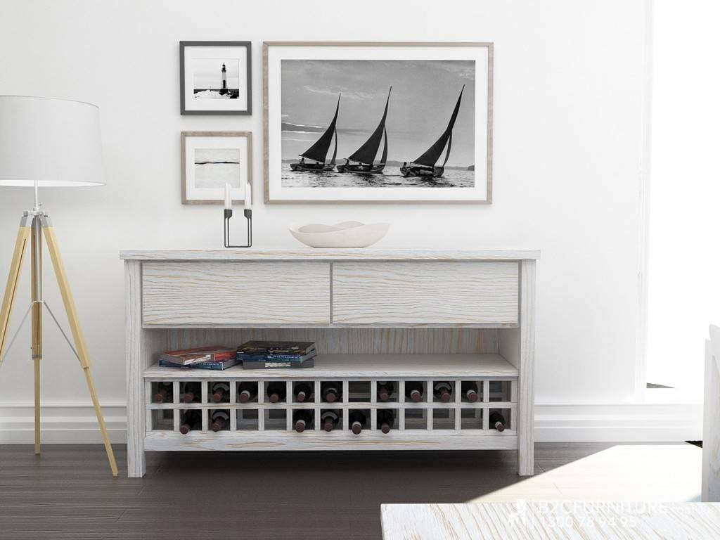 Sideboards. Inspiring Buffet With Wine Storage: Buffet-With-Wine for White Sideboards With Wine Rack (Image 21 of 30)