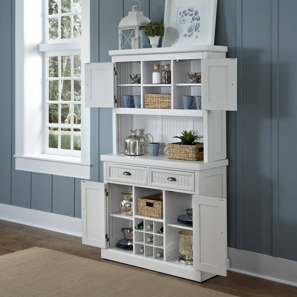 Sideboards. Inspiring Kitchen Buffet With Hutch: Kitchen-Buffet with White Sideboards for Sale (Image 20 of 30)