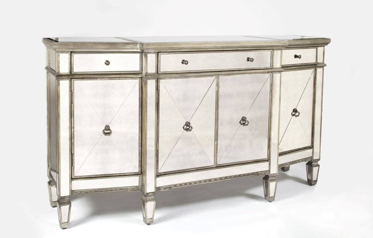 Sideboards. Inspiring Mirrored Buffet Console Table: Mirrored in Mirrored Sideboard Furniture (Image 22 of 30)