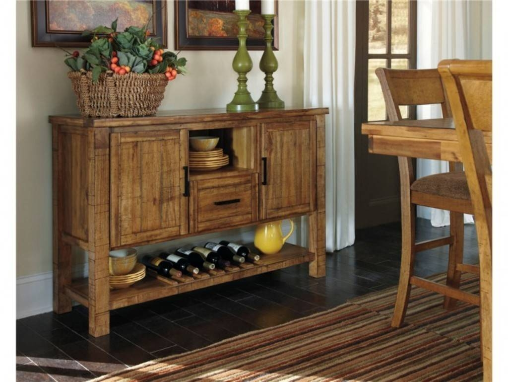 Sideboards. Inspiring Rustic Buffet Tables: Rustic-Buffet-Tables in Light Wood Sideboards (Image 28 of 30)