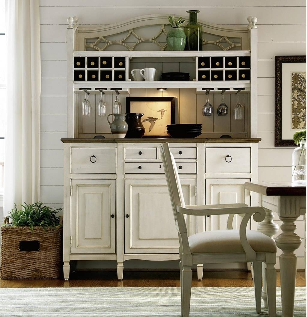 Sideboards. Interesting Kitchen Buffet And Hutch: Kitchen-Buffet inside White Sideboards With Wine Rack (Image 25 of 30)