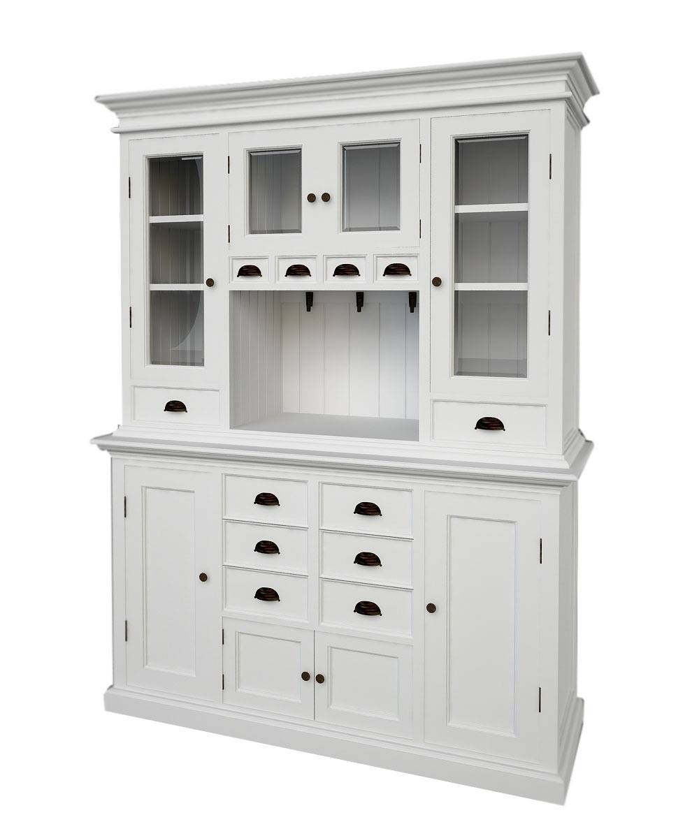 Sideboards. Interesting Kitchen Buffet And Hutch: Kitchen-Buffet intended for White Glass Sideboards (Image 27 of 30)