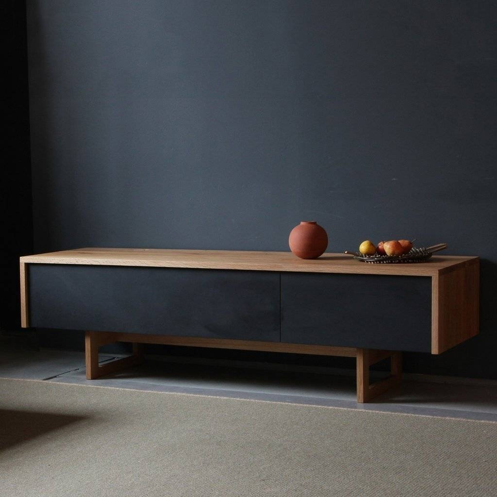 Sideboards. Interesting Low Sideboard: Low-Sideboard-Low-Sideboard inside Walnut and Black Sideboards (Image 20 of 30)