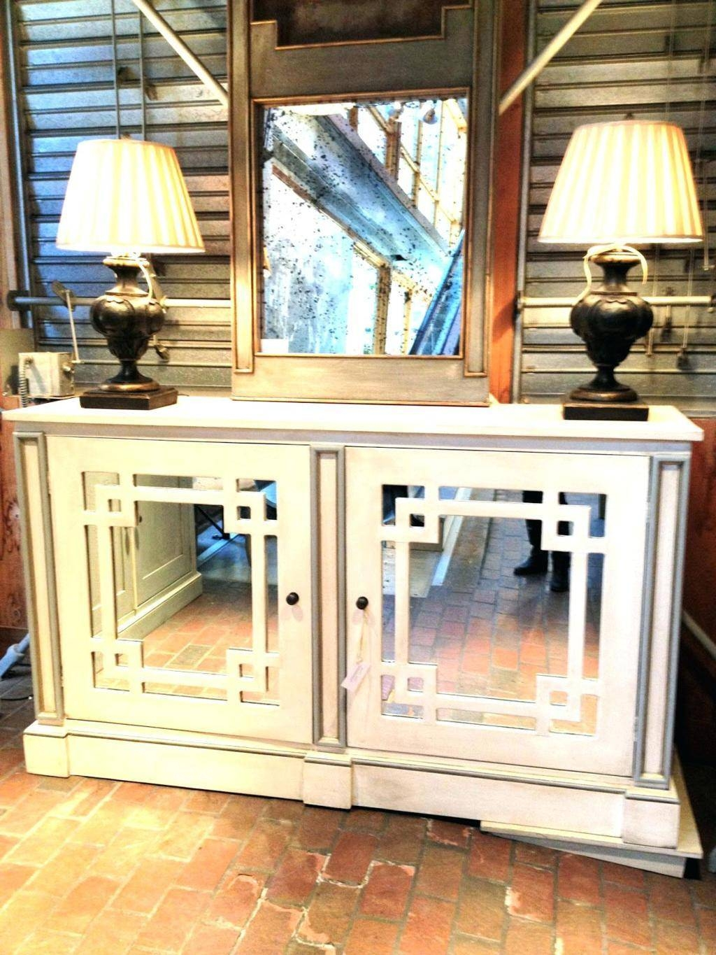 Sideboards. Interesting Mirrored Buffet Server: Mirrored-Buffet within Mirrored Sideboard Furniture (Image 27 of 30)