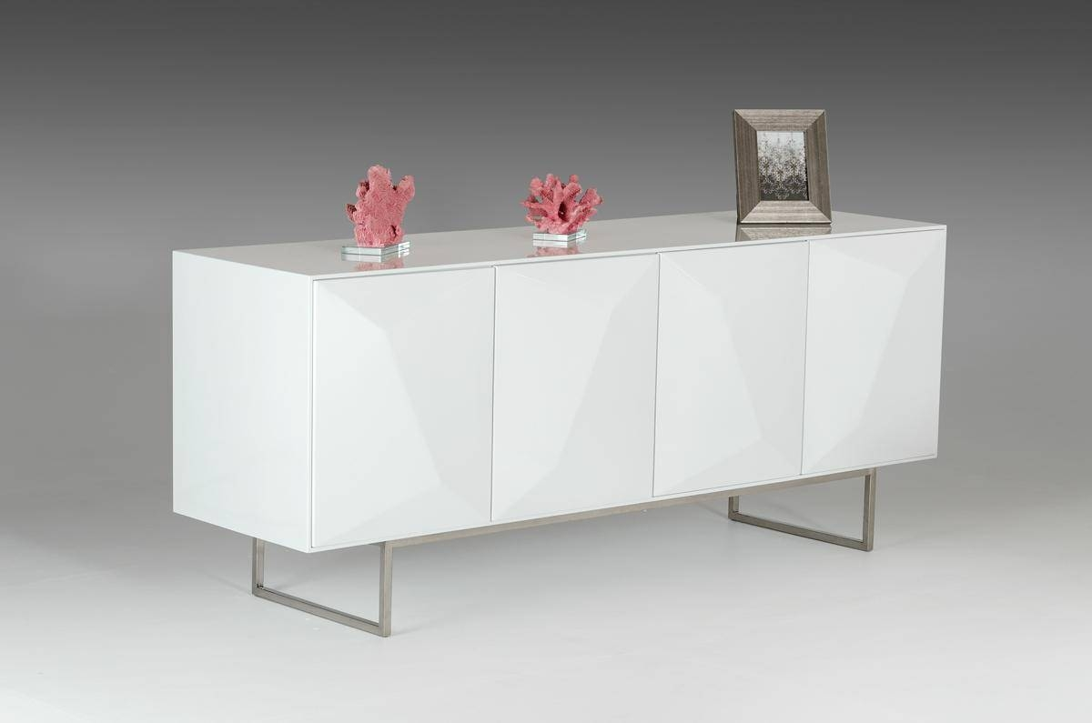 Sideboards. Interesting Modern White Buffet: Modern-White-Buffet regarding Contemporary White Sideboards (Image 27 of 30)