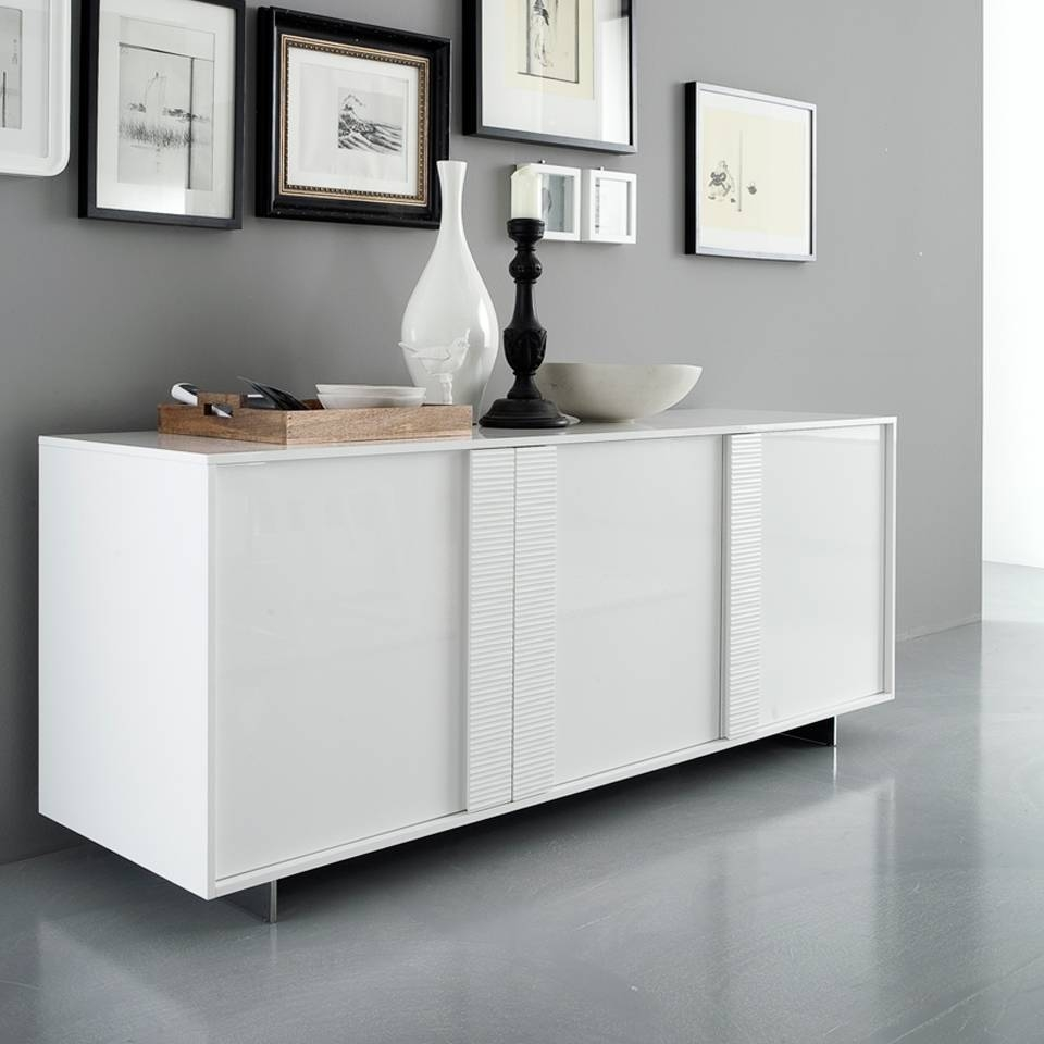 Sideboards. Interesting Modern White Buffet: Modern-White-Buffet with White Sideboard Furniture (Image 25 of 30)