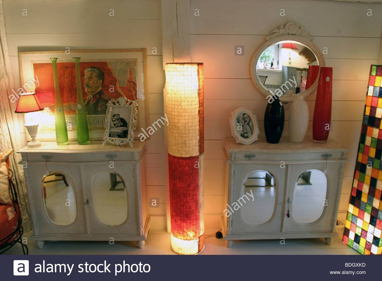 Sideboards Lamps Stock Photo, Royalty Free Image: 25573057 - Alamy within Sideboards With Lamps (Image 12 of 30)