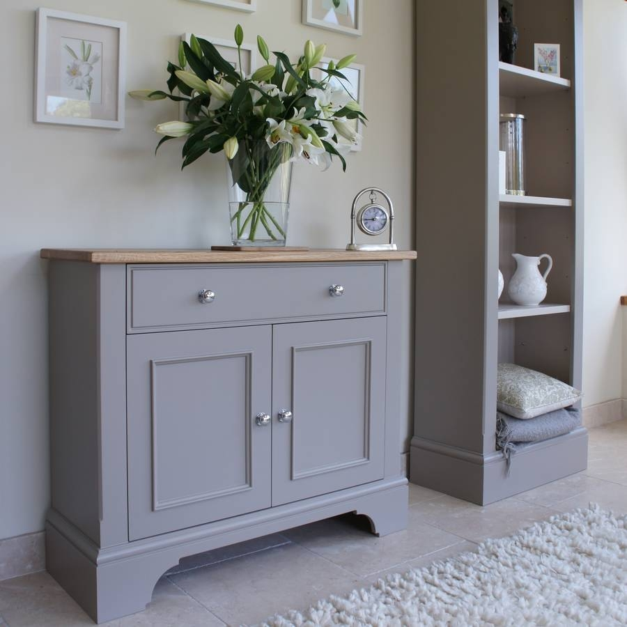 Sideboards. Marvellous Grey Sideboard: Grey-Sideboard-Grey-Painted in Black And Silver Sideboards (Image 26 of 30)