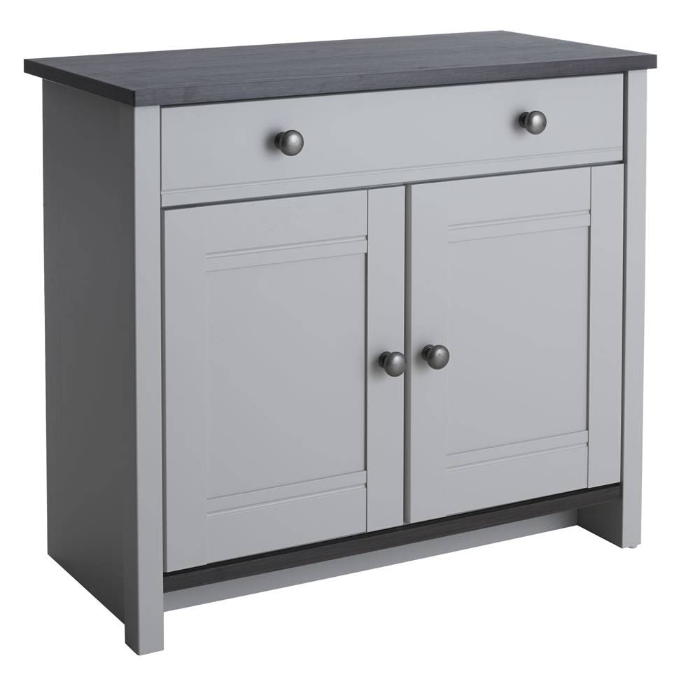 Sideboards. Marvellous Grey Sideboard: Grey-Sideboard-Grey-Painted in Black Wood Sideboards (Image 27 of 30)