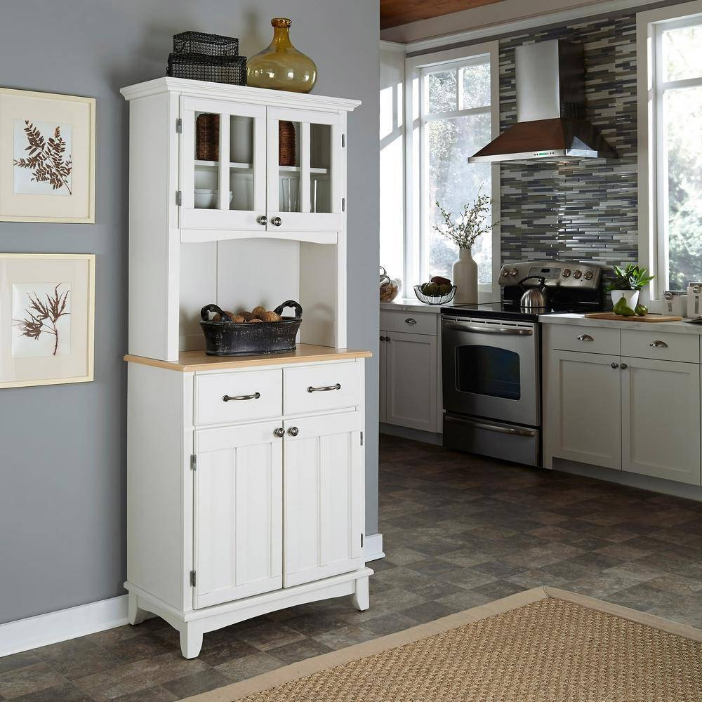 Sideboards. Marvellous Narrow Kitchen Hutch: Narrow-Kitchen-Hutch with Narrow White Sideboards (Image 25 of 30)