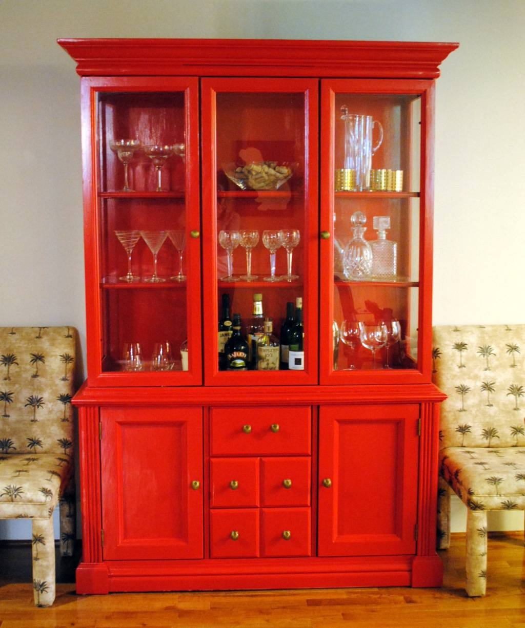 Sideboards: Marvellous Red China Cabinet Red China Hutch, Red inside Red Sideboards (Image 28 of 30)