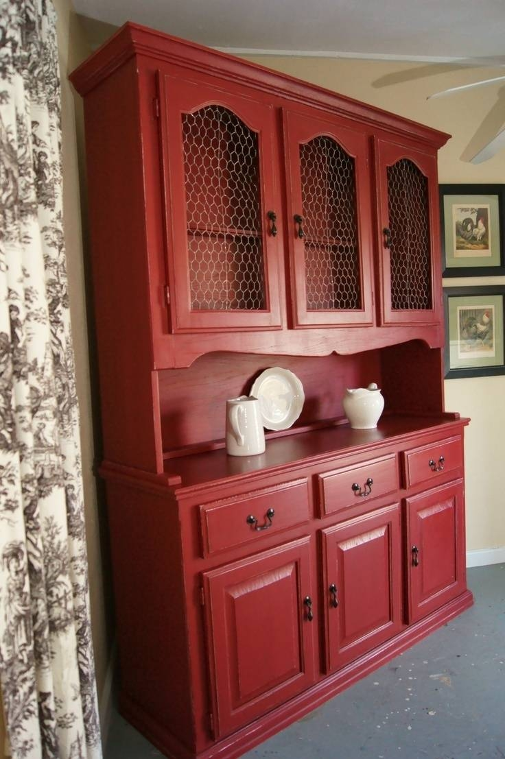 Sideboards: Marvellous Red China Cabinet Red China Hutch, Red within Red Sideboards (Image 30 of 30)
