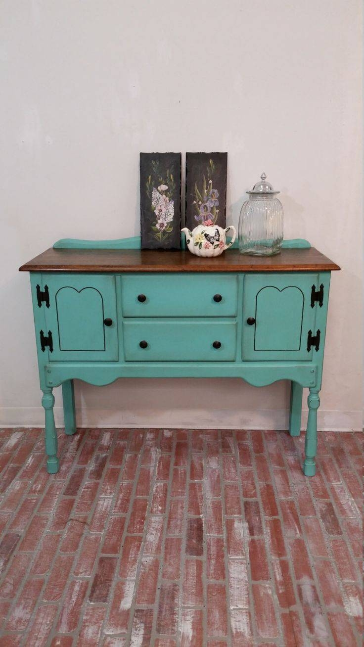 Sideboards. Marvellous Vintage Buffet Table: Vintage-Buffet-Table pertaining to Sideboards With Lamps (Image 27 of 30)