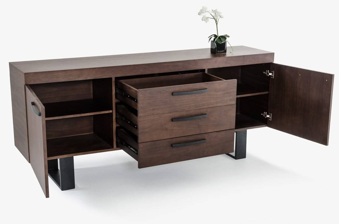 Sideboards. Marvellous Walnut Buffet: Walnut-Buffet-Walnut-Buffet in Walnut And Black Sideboards (Image 21 of 30)
