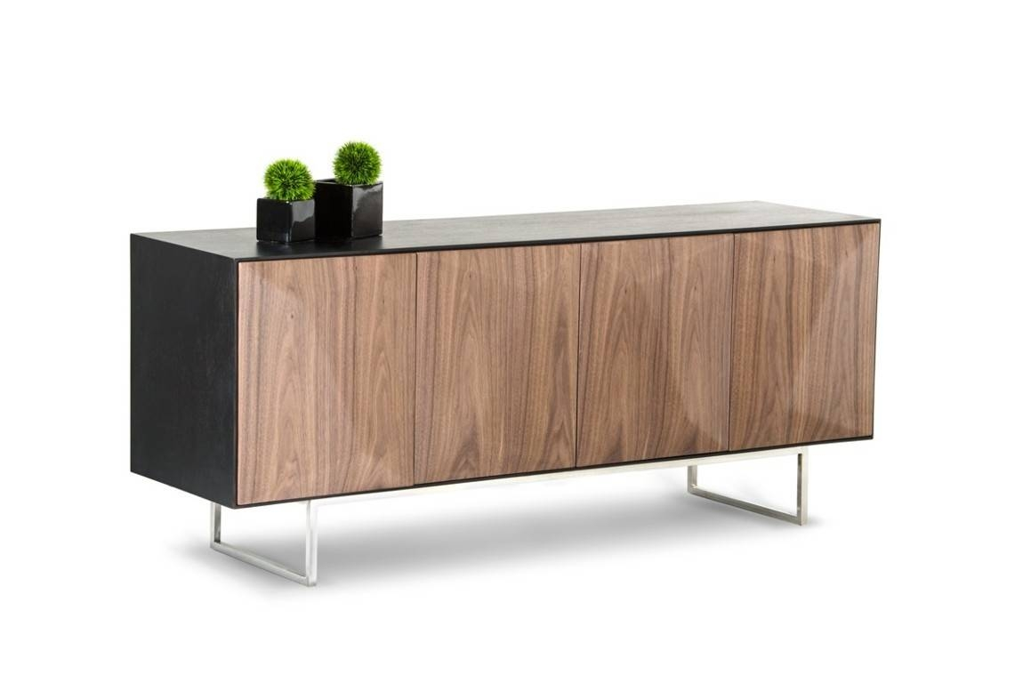 Sideboards. Marvellous Walnut Buffet: Walnut-Buffet-Walnut-Buffet within Walnut And Black Sideboards (Image 23 of 30)