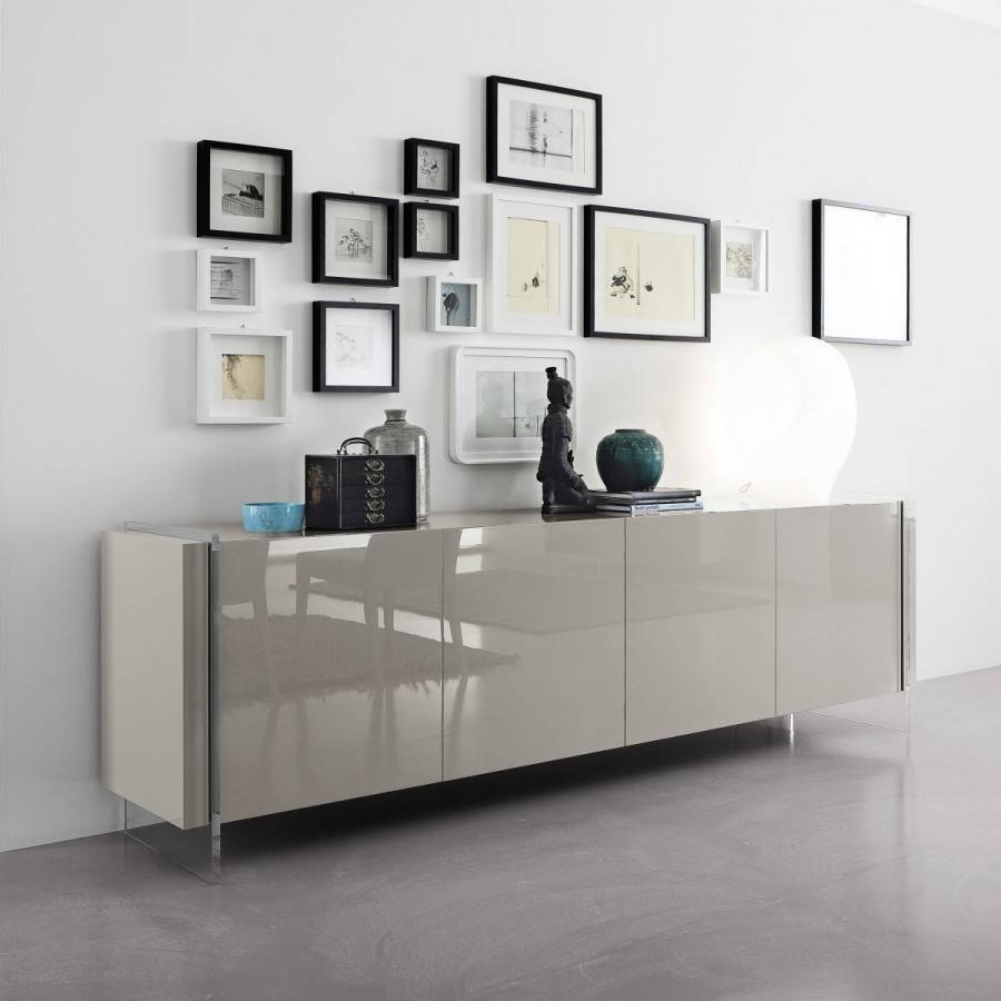 Sideboards. Marvellous White Sideboards Furniture: White with White Contemporary Sideboards (Image 28 of 30)