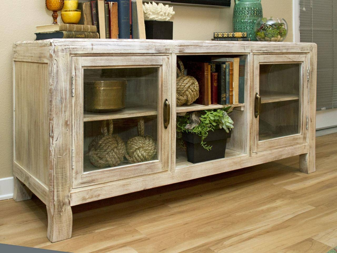 Sideboards. Outstanding Buffet Cabinets With Glass Doors: Buffet intended for Glass Sideboards (Image 27 of 30)