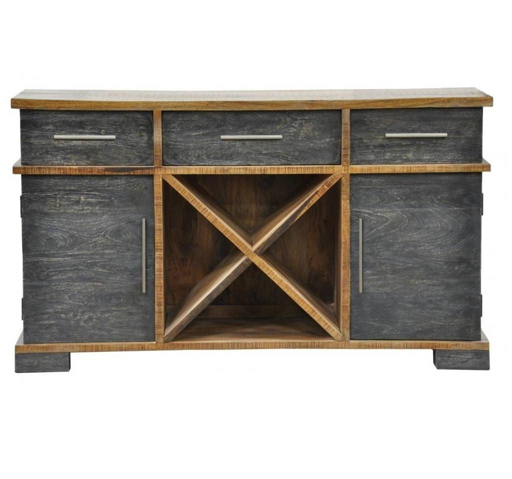 Sideboards. Outstanding Rustic Sideboard Buffet: Rustic-Sideboard regarding Dark Grey Sideboards (Image 23 of 30)