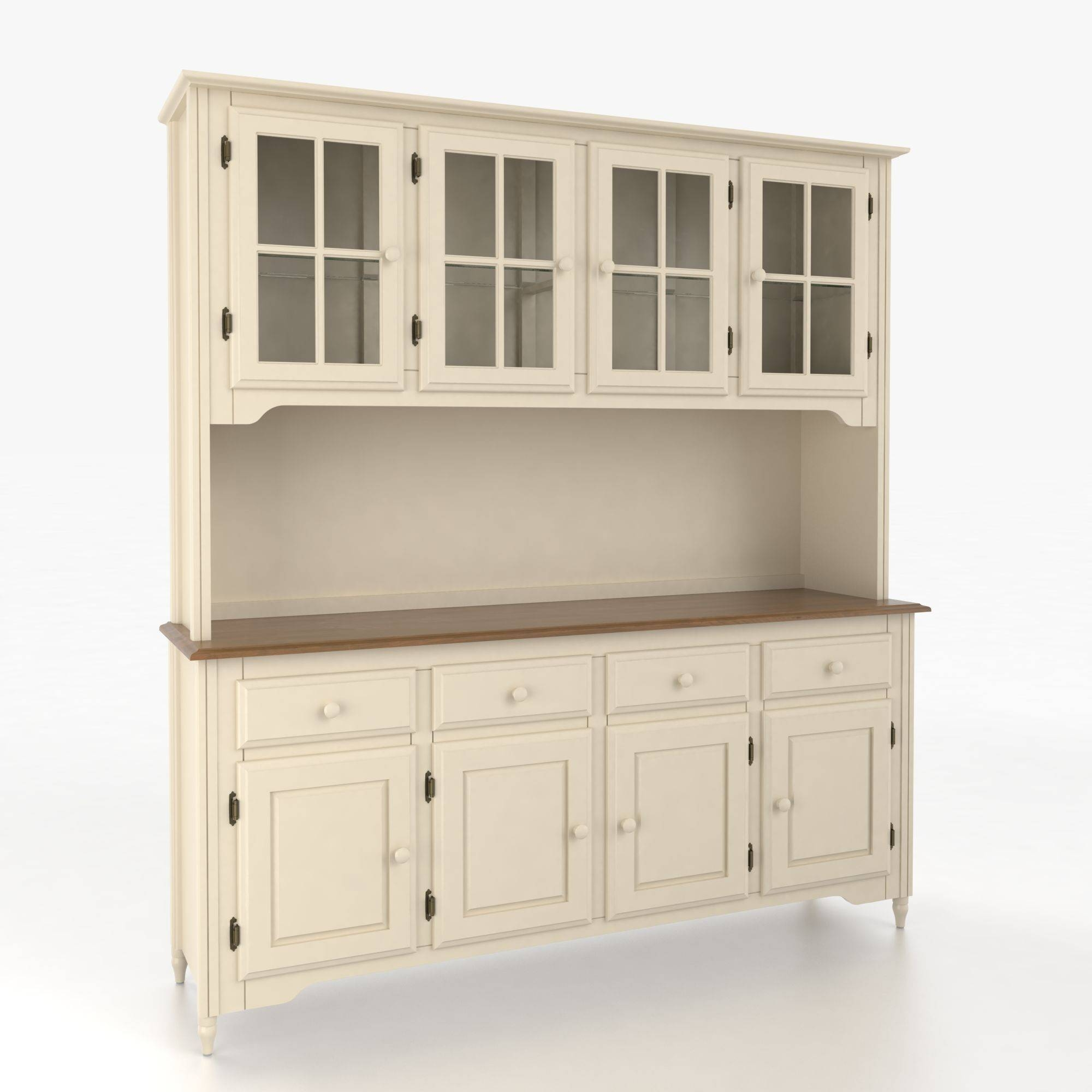 Sideboards. Outstanding Wooden Buffet And Hutch: Wooden-Buffet-And regarding White Wooden Sideboards (Image 22 of 30)