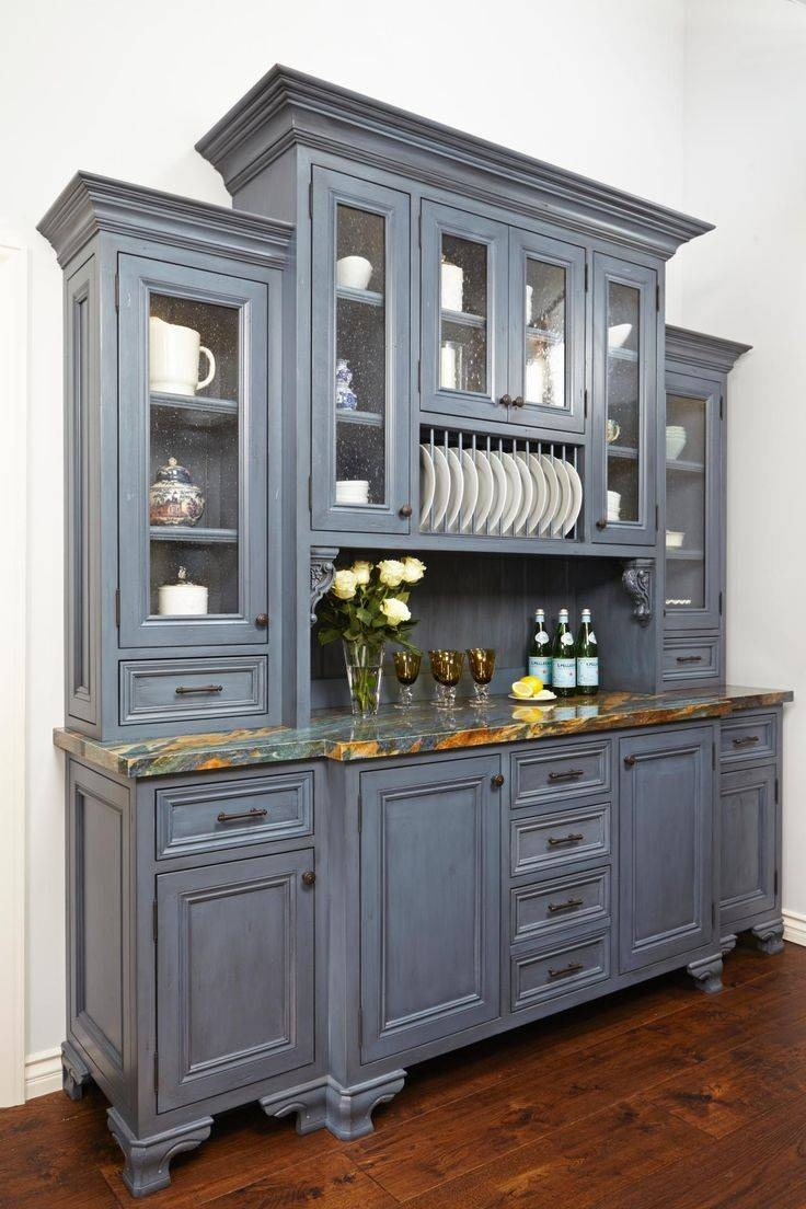 Sideboards. Stunning Country Kitchen Hutch: Country-Kitchen-Hutch throughout Country Sideboards (Image 26 of 30)