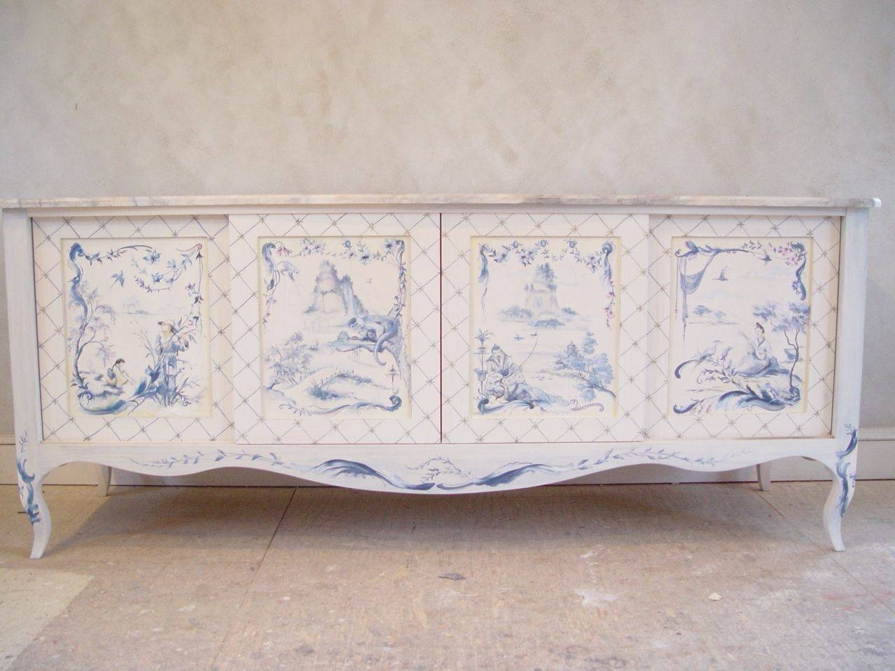 Sideboards. Stunning Hand Painted Buffet Furniture: Hand-Painted throughout Chinoiserie Sideboards (Image 24 of 30)