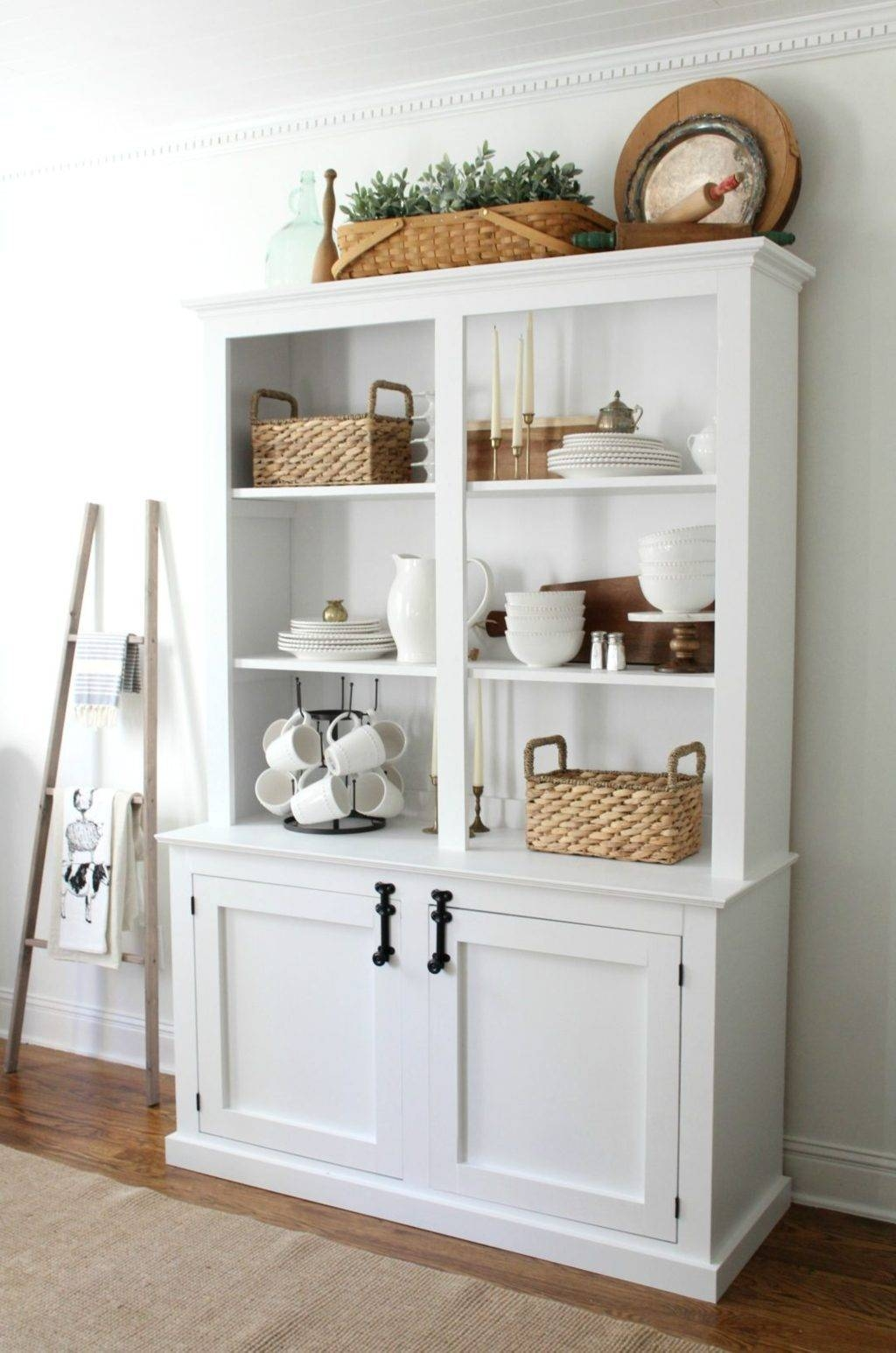 Sideboards. Stunning White Dining Hutch: White-Dining-Hutch intended for White Sideboards For Sale (Image 25 of 30)