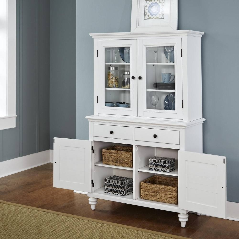 Stunning White Dining Hutch: White Dining Hutch Pertaining To White  Sideboards