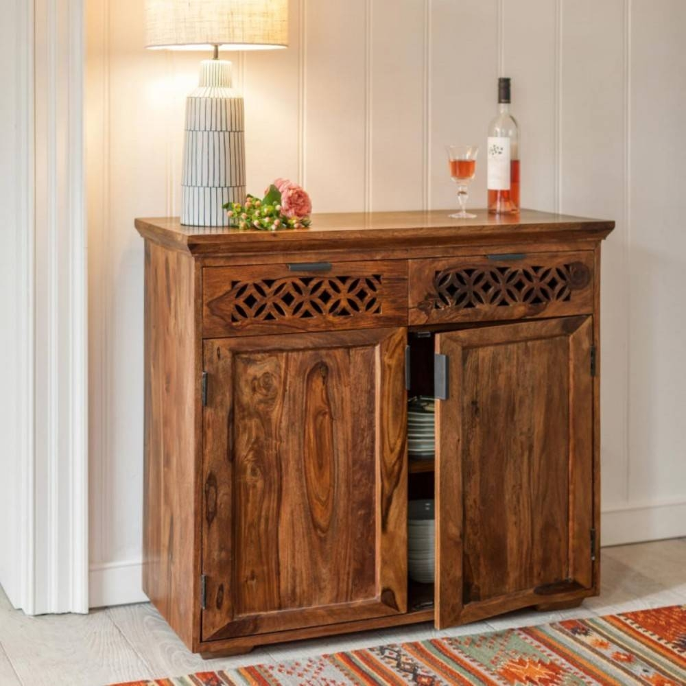 Sideboards. Stunning Wooden Sideboard: Wooden-Sideboard-Dark inside Small Dark Wood Sideboards (Image 25 of 30)