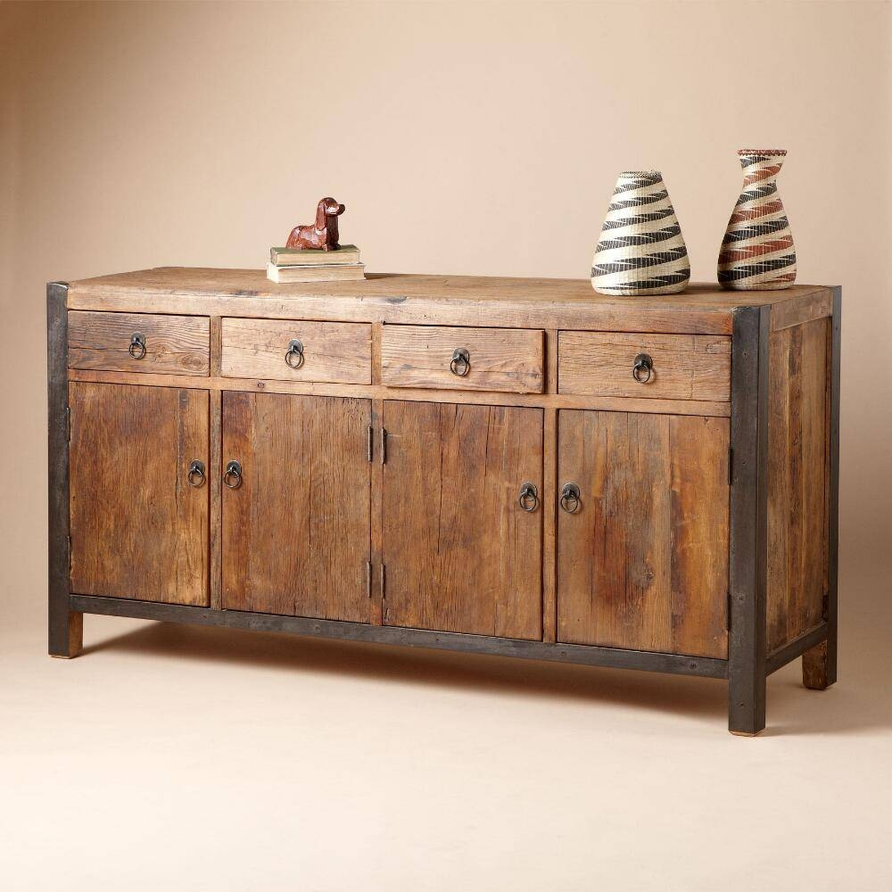Sideboards. Stunning Wooden Sideboard: Wooden Sideboard Small With Regard To High Sideboards (Photo 17 of 30)
