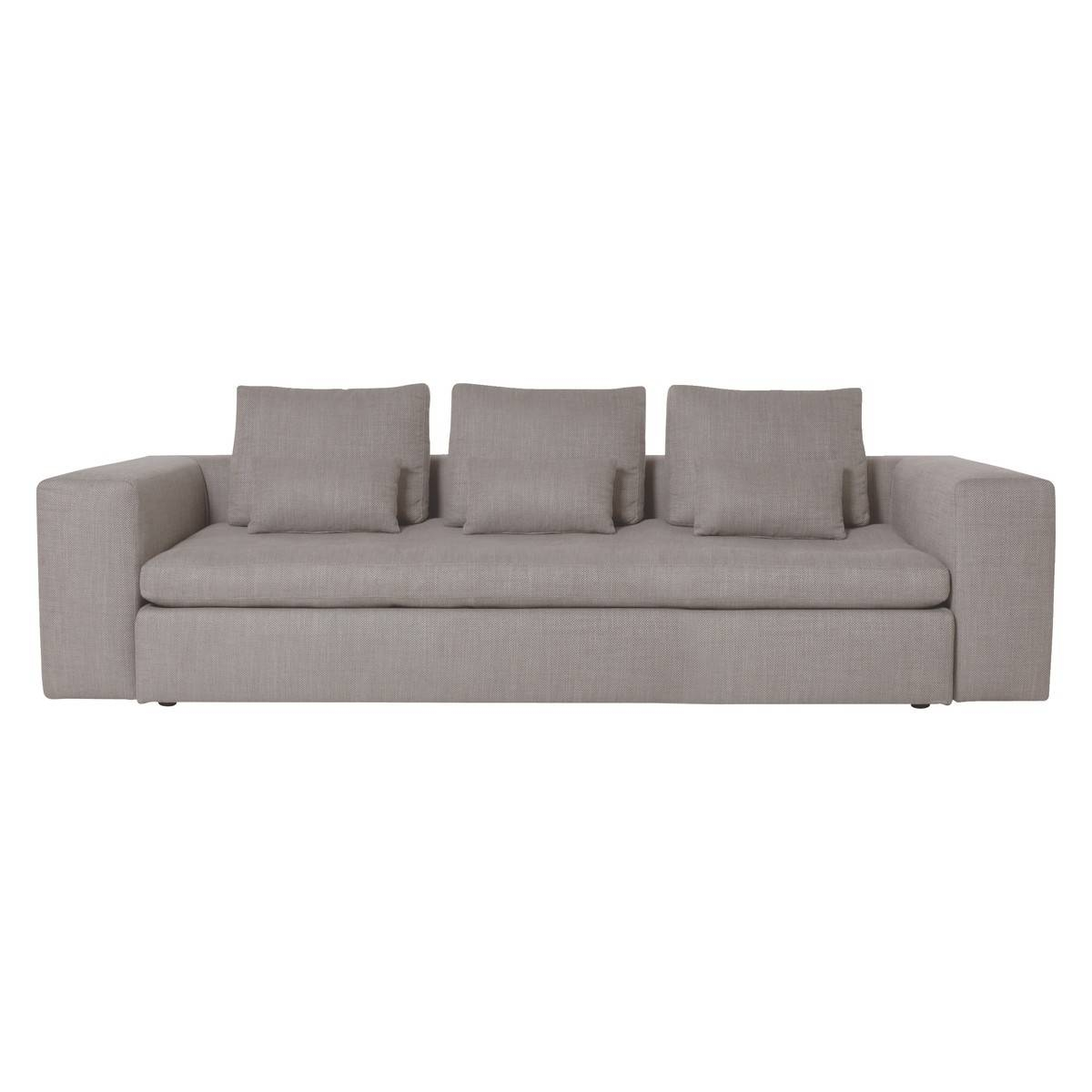 Sidney Light Grey Fabric Large 3 Seater Sofa | Buy Now At Habitat Uk with Large 4 Seater Sofas (Image 29 of 30)