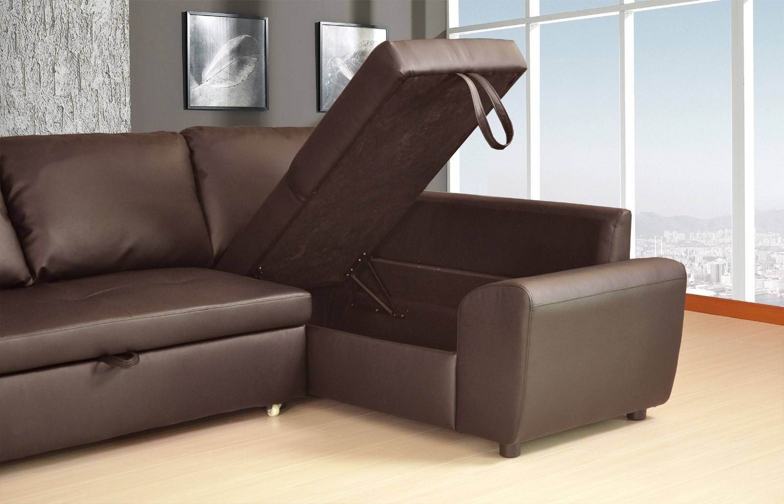 Siena Corner Sofa Bed - Leather Sectional Sofa throughout Leather Corner Sofa Bed (Image 27 of 30)