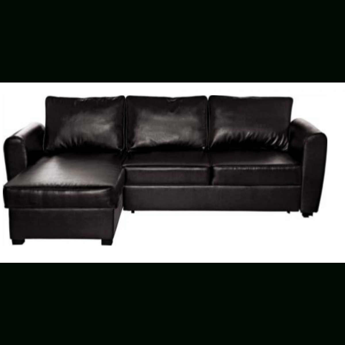 Siena Leather Effect Corner Sofa Bed With Storage -Chocolate with regard to Cheap Corner Sofa Beds (Image 21 of 30)