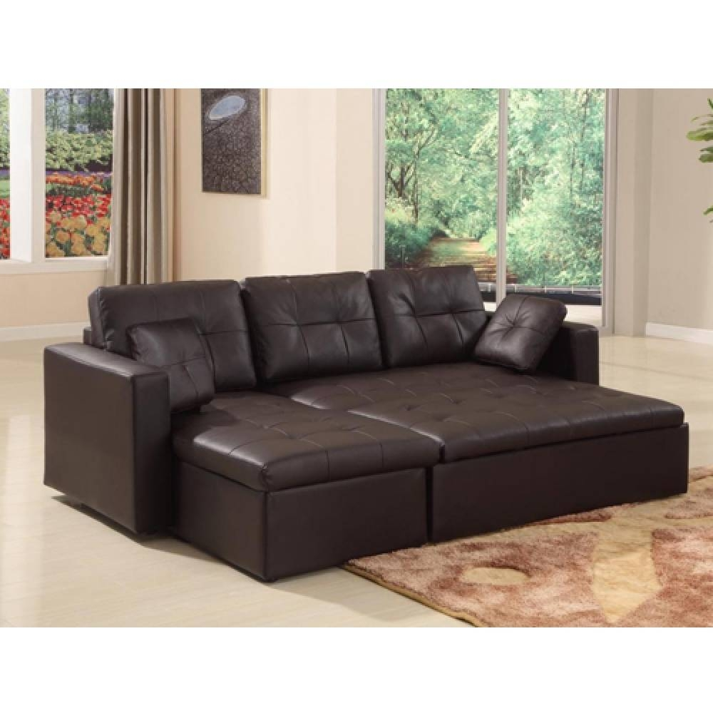 Siena Leather Effect Corner Sofa Bed With Storage Simple Leather within Leather Sofa Beds With Storage (Image 22 of 30)