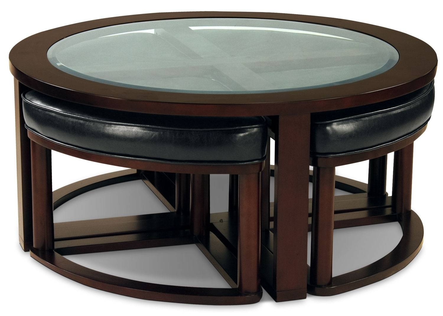 Sierra Coffee Table With Four Ottoman Wedge Stools | The Brick In Coffee Table With Stools (View 28 of 30)