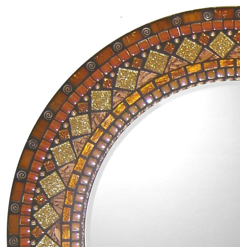 Signature-Collection---Custom-Mosaic-Mirrors-By-Opus-Mosaics with regard to Mosaic Mirrors (Image 20 of 25)