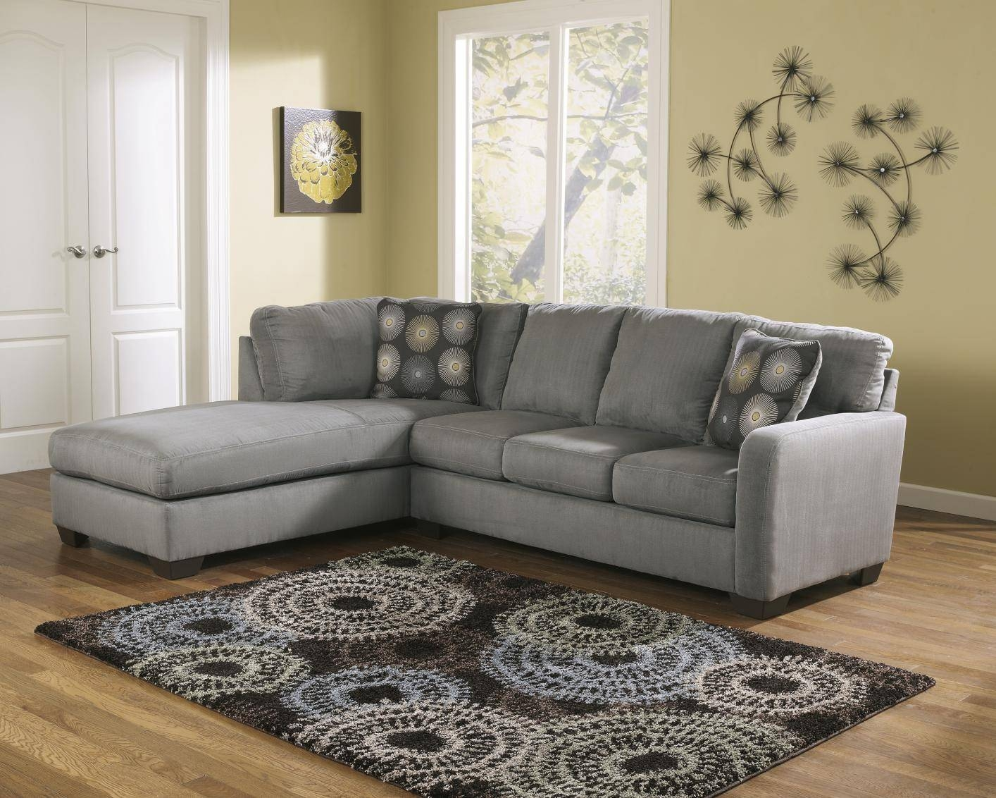Signature Designashley 7020067 7020016 Grey Fabric Sectional intended for Fabric Sectional Sofa (Image 26 of 30)