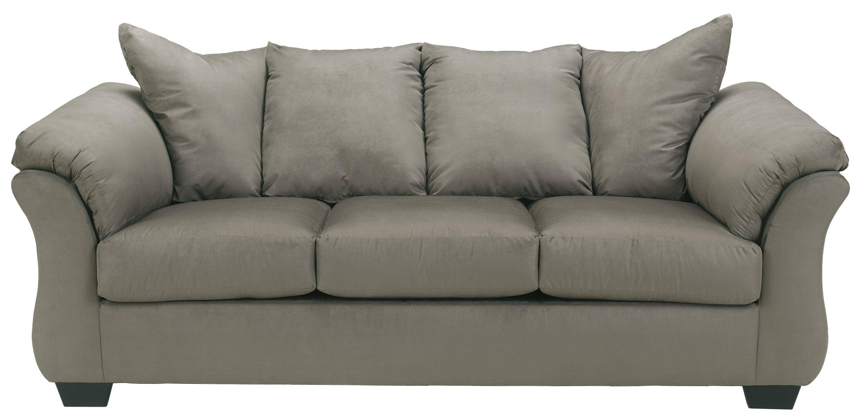 Signature Designashley Darcy - Cobblestone Contemporary Full in Cushion Sofa Beds (Image 19 of 30)