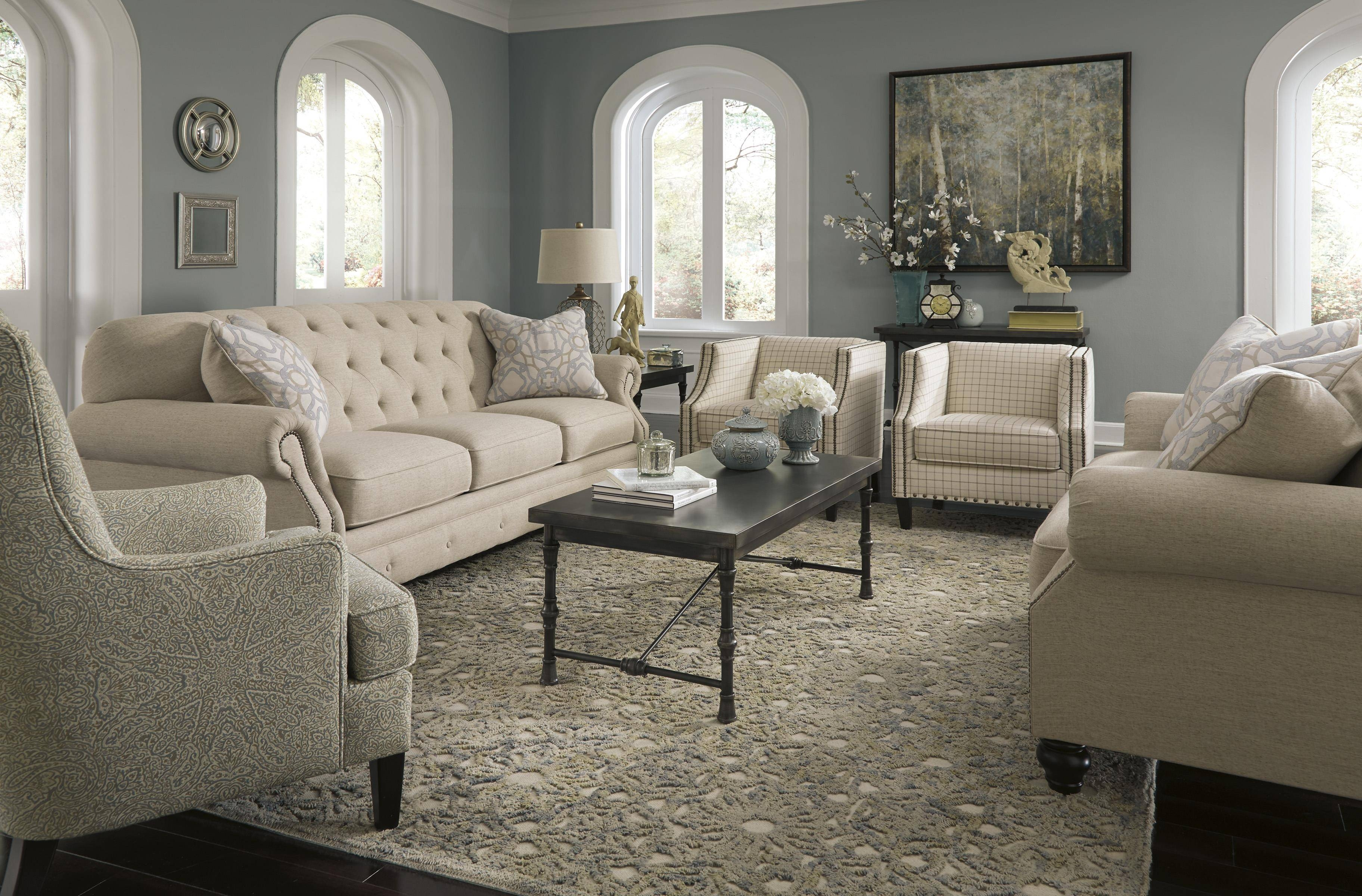 Signature Designashley Kieran Traditional Sofa With Tufted Throughout Ashley Tufted Sofa (View 4 of 30)