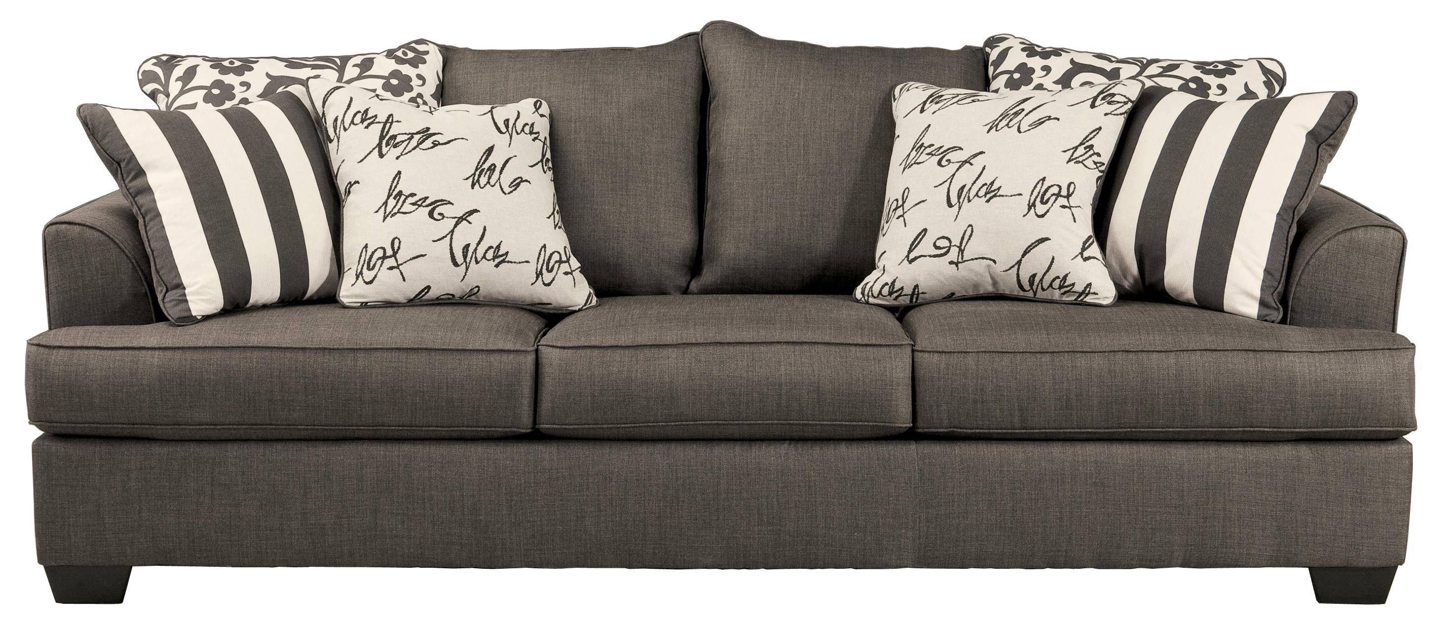 Signature Designashley Levon - Charcoal Queen Sofa Sleeper with Ashley Furniture Gray Sofa (Image 27 of 30)