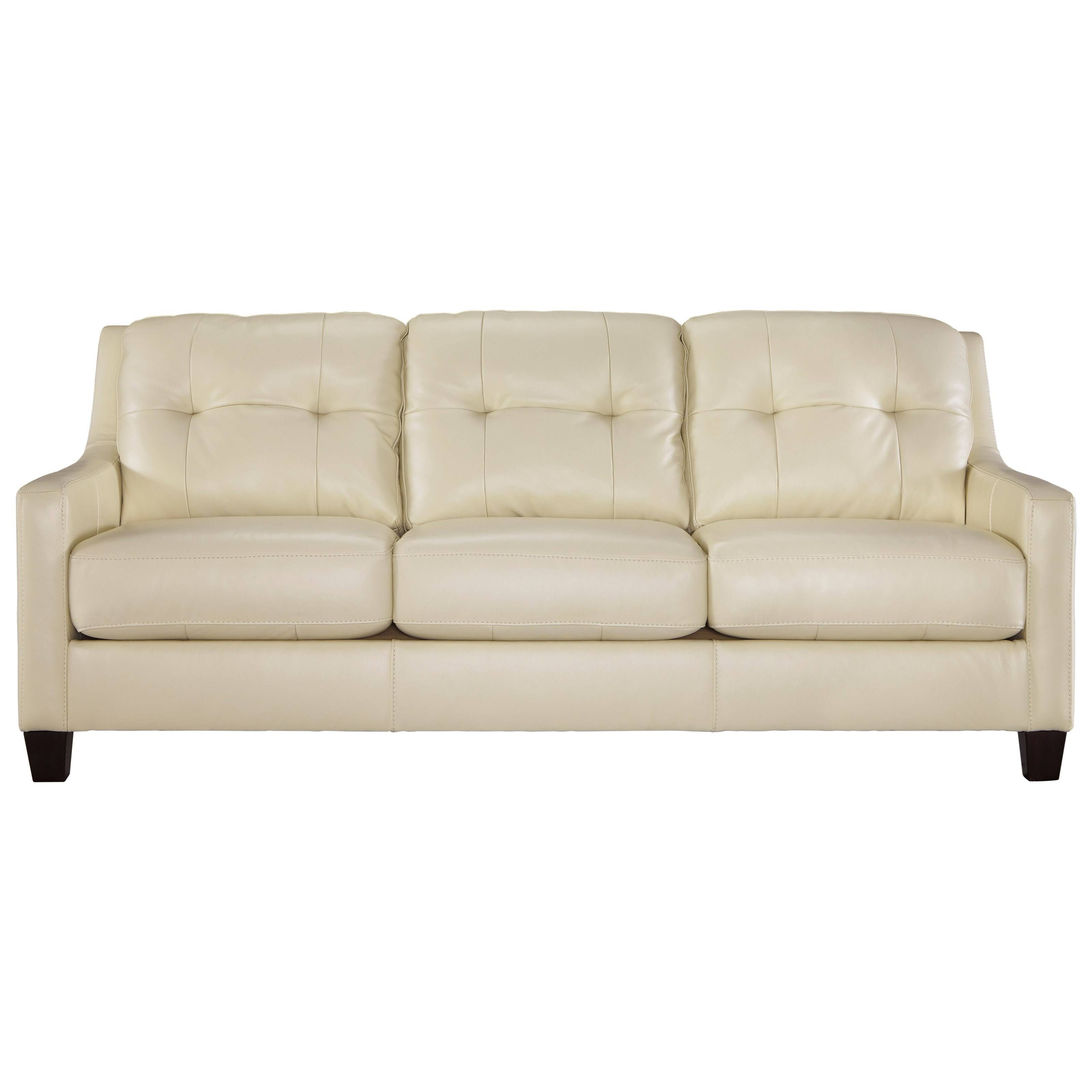 Signature Designashley O'kean Contemporary Leather Match Sofa Intended For Ashley Tufted Sofa (View 9 of 30)