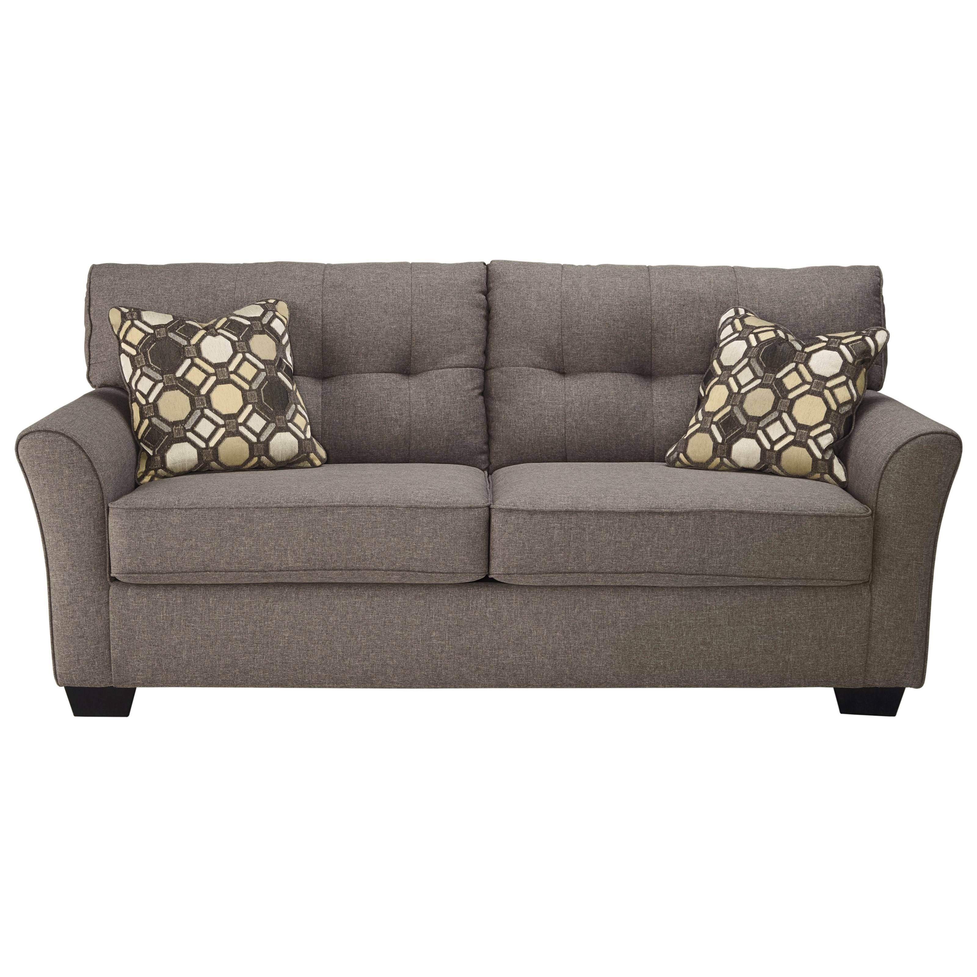 Signature Designashley Tibbee Contemporary Sofa With Tufted Pertaining To Ashley Tufted Sofa (View 7 of 30)