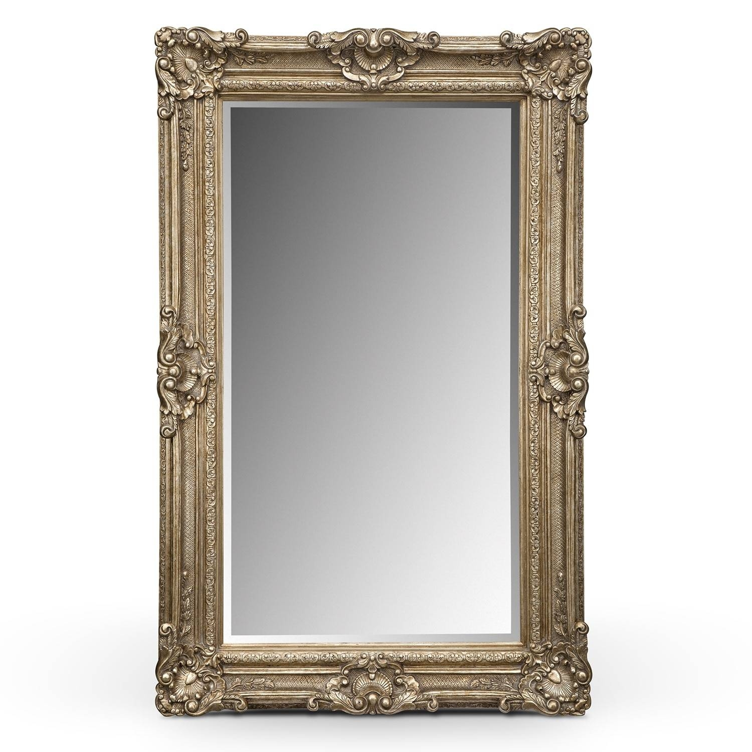 Silver Antique Floor Mirror | Value City Furniture in Silver Antique  Mirrors (Image 17 of - 25 Collection Of Silver Antique Mirrors