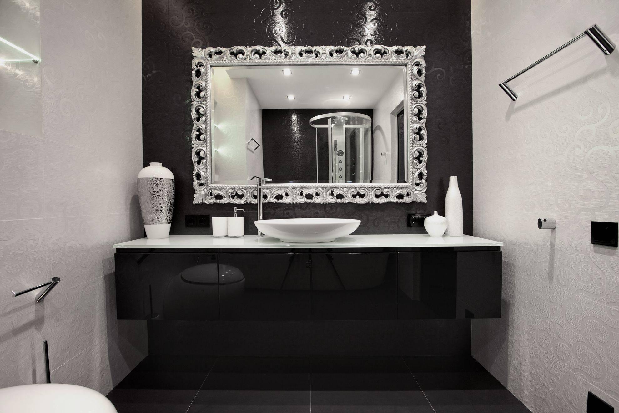 Silver Bathroom Mirror Rectangular – Harpsounds.co throughout Silver Rectangular Bathroom Mirrors (Image 22 of 25)