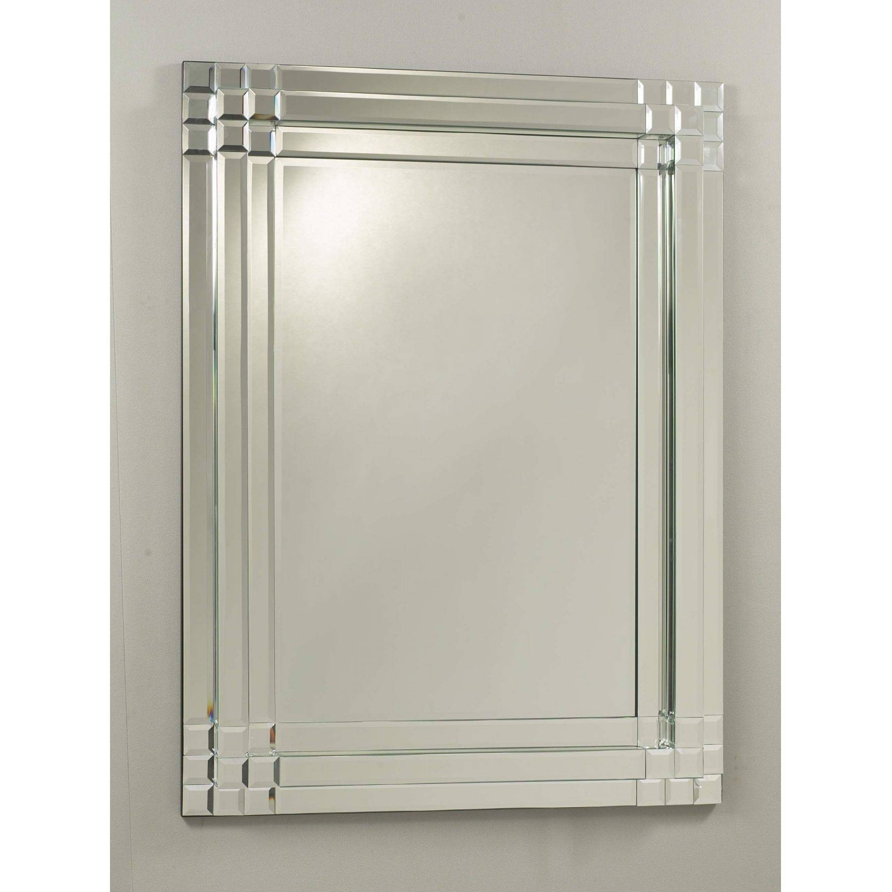 Silver Box Bevel Mirror – Miscellaneous From Homesdirect 365 Uk Pertaining To Silver Mirrors (View 19 of 25)