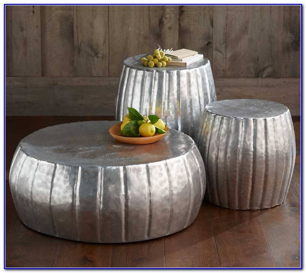Silver Drum Coffee Table - Coffee Table : Home Furniture Ideas intended for Silver Drum Coffee Tables (Image 26 of 30)