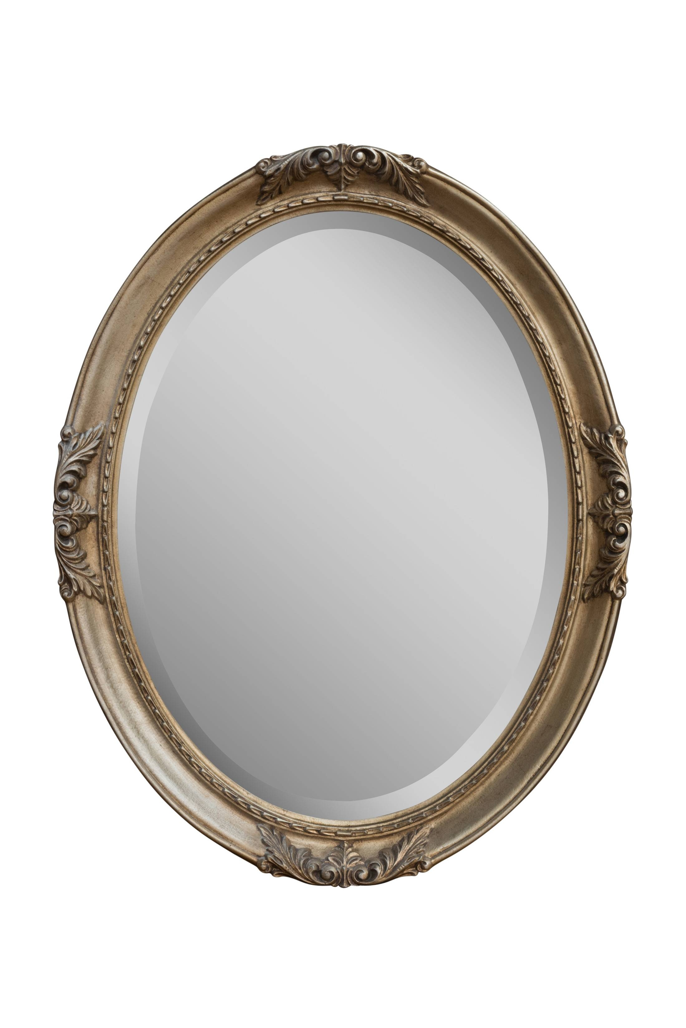 Silver Flora Oval | Bedroom Mirrors For Sale - Panfili Mirrors within Silver Oval Mirrors (Image 23 of 25)
