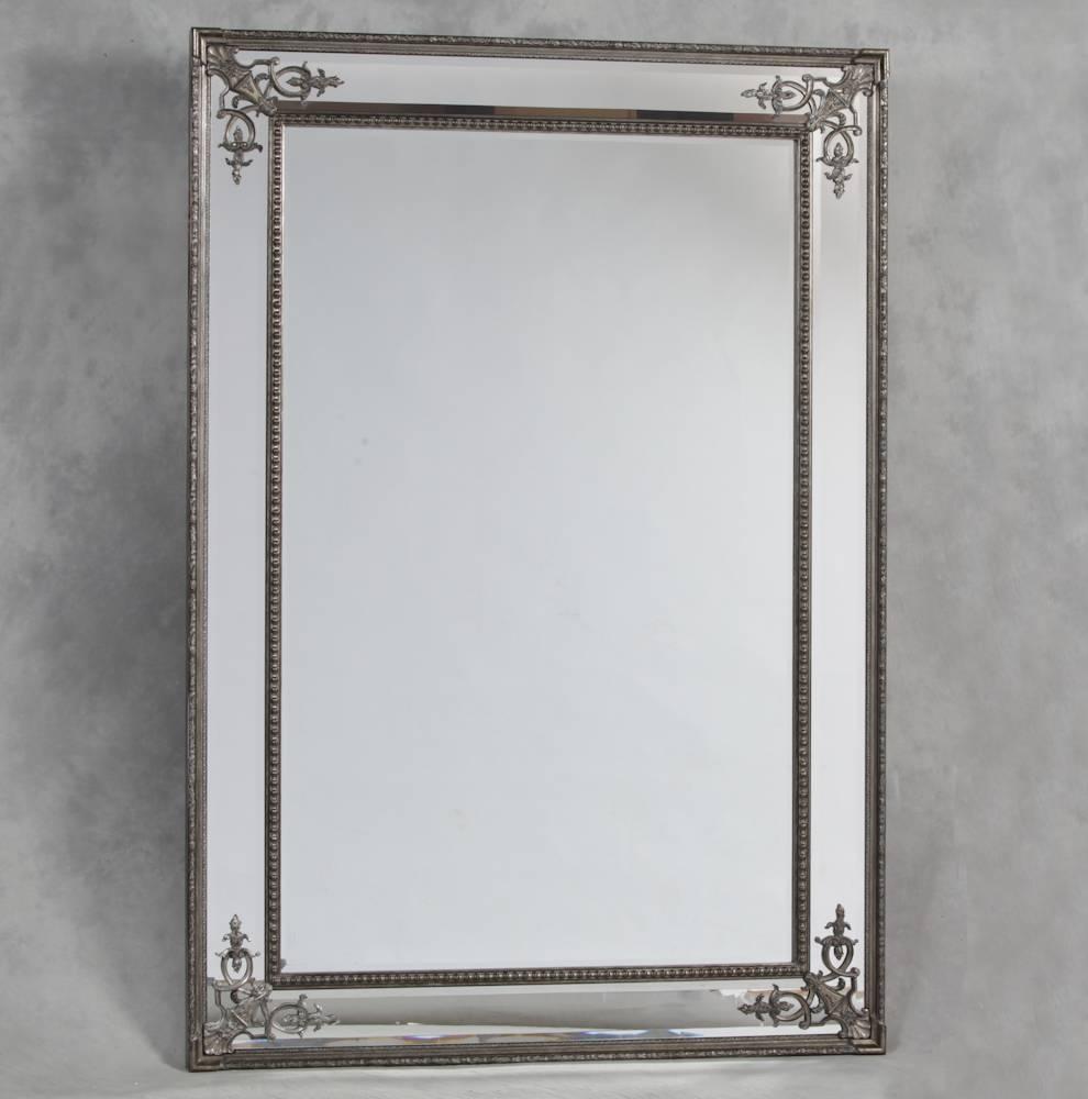 Silver French Style 'cimiero' Wall Mirror 192 X 134Cm Silver Within French Wall Mirrors (View 20 of 25)