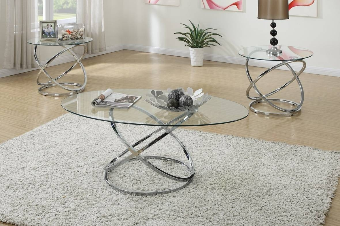 Popular Photo of Glass And Silver Coffee Tables