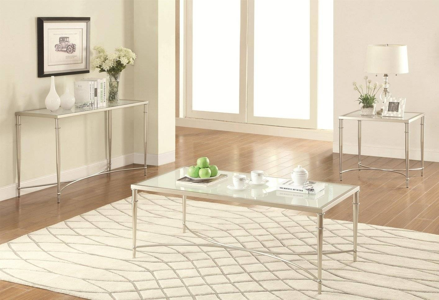 Silver Glass Coffee Table – Steal A Sofa Furniture Outlet Los Inside Glass And Silver Coffee Tables (View 23 of 30)